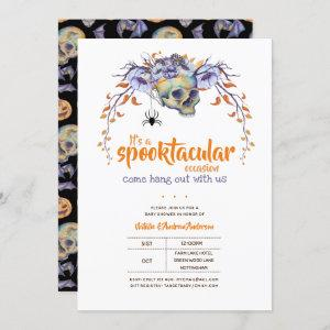Let's Hang Out Spooktacular Halloween Baby Shower Invitation