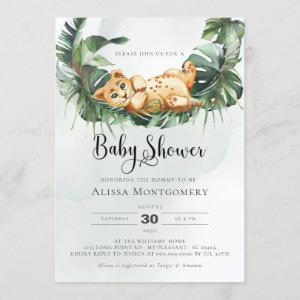 Lion Baby Shower Invitation