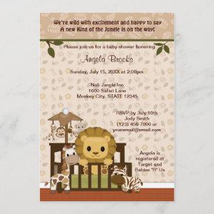 LION Baby Shower Invitation Nali Jungle NJL
