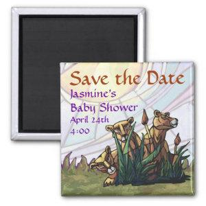 Lion Cubs Save the Date Magnet