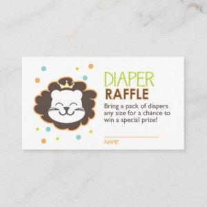 Lion Diaper Raffle Ticket Enclosure Card
