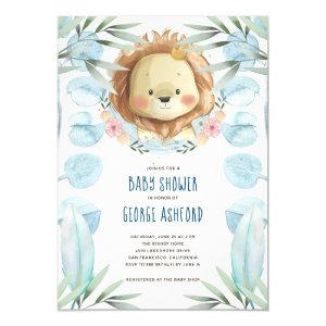 Lion It's a Boy Baby Shower Invitation