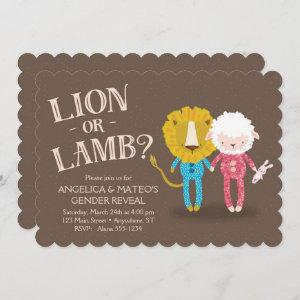 Lion or Lamb Gender Reveal Invitation