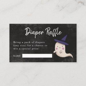 Little Boo Girl Baby Shower Diaper Raffle Enclosure Card