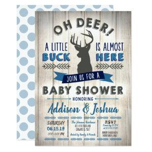 Little Buck Deer Baby Shower Invitation