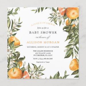 Little Cutie Baby Shower Invitation