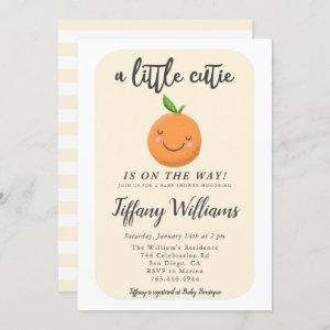 Little Cutie Clementine Gender Neutral Baby Shower Invitation