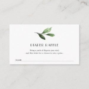 Little Cutie Diaper Raffle Ticket for Baby Shower Enclosure Card