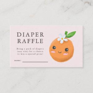 Little Cutie Pink Baby Shower Diaper Raffle Ticket Enclosure Card