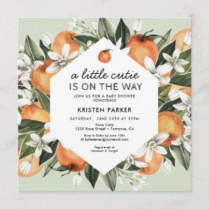 Little Cutie Theme Gender Neutral Baby Shower Invitation