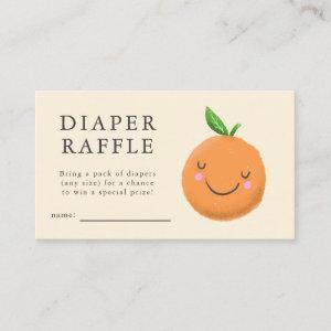 Little Cutie Yellow Baby Shower Diaper Raffle Enclosure Card