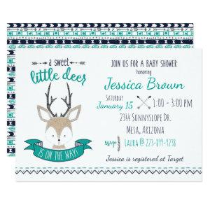 Little Deer Baby Shower Invitation