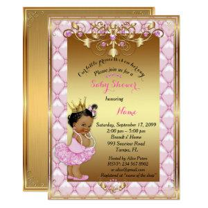 Little etnic Princess, Baby Shower Invitation,gold Invitation