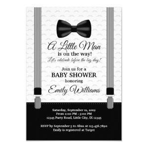 Little Man Baby Shower invitation Bow Tie Shower
