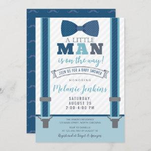 Little Man Baby Shower Invitations for Boy