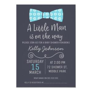 Little Man Bow Tie Baby Shower Invitation