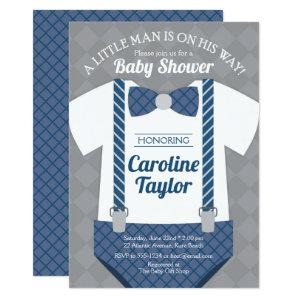 Little Man Outfit Baby Shower Invitation