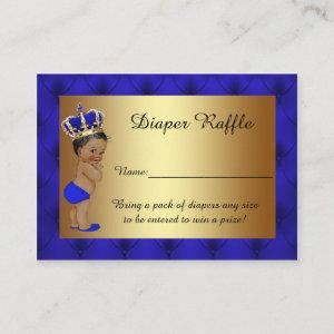 Little Prince Diaper Raffle Tickets Enclosure Card