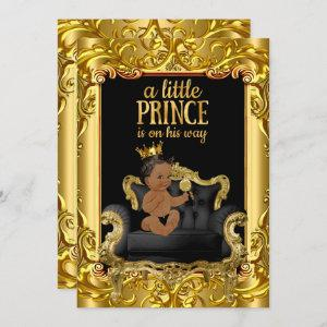 Little Prince on Throne Baby Shower Ethnic