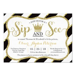 Little Prince Sip and See Baby Shower Invitation