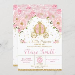 Little Princess Baby Shower Carriage Pink Floral