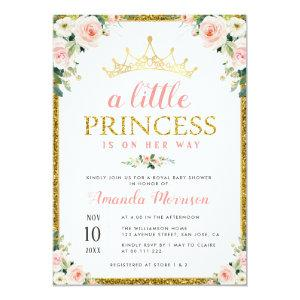 little princess girl baby shower invitation