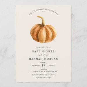 Little Pumpkin Baby Shower invitation