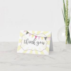 Little Ray of Sunshine Baby Girl Thank You Card