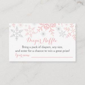 Little Snowflake Baby Shower Diaper Raffle Ticket Enclosure Card