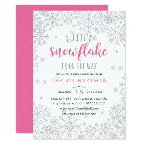 Little Snowflake Baby Shower Invitation