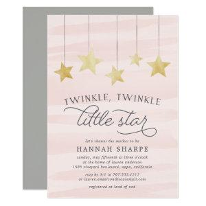 Little Star Baby Shower Invitation | Blush