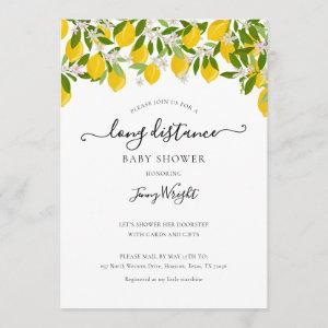 Long Distance Shower by Mail Baby Shower Lemons Invitation