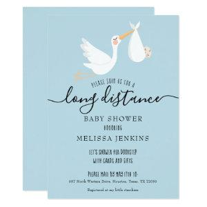 Long Distance Shower / Sprinkle By Mail Invitation