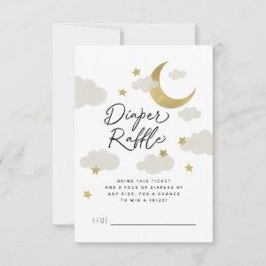 Loved to the Moon and Back Baby Shower Gold White