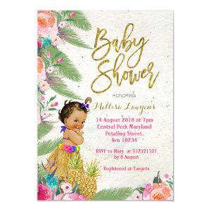 Luau Hawaiian Baby Shower Invitation