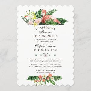 Luau Tropical Flowers Invitación de Baby Shower Invitation