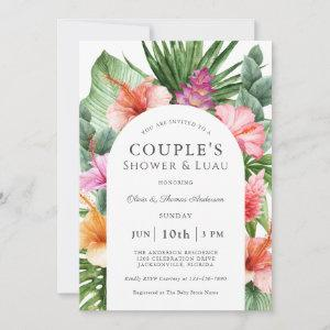 Lush Tropical Floral Couple's Shower and Luau