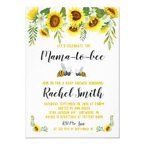 Mama-to-bee Baby Shower Invitation