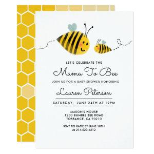 Mama to Bee Baby Shower Invitation | Bumble Bee