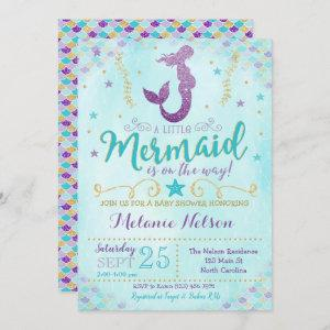Mermaid Baby Shower Invitation Sprinkle