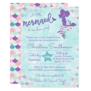 Mermaid Baby Shower Invitations for a Baby Girl