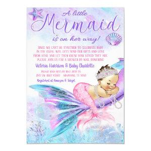 Mermaid Long Distance Baby Shower by Mail Invitation