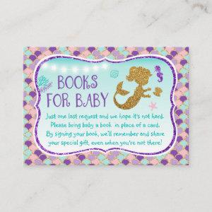 Mermaid Under The Sea Baby Book Request Cards