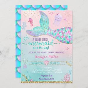 Mermaid Under The Sea Pink Gold Baby Shower