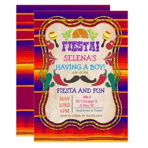 Mexican Fiesta Baby Shower Invitation