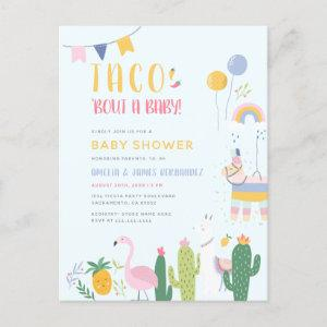 Mexican Fiesta Taco Bout A Baby Couple's Shower Invitation Postcard