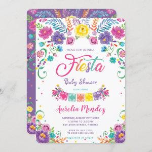Mexican Floral Flowers Fiesta Girl Baby Shower