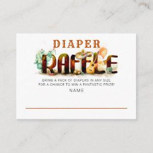 Mexican Style Baby Shower Diaper Raffle Enclosure Card