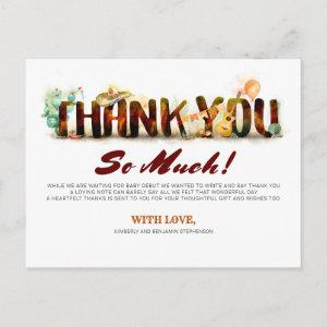 Mexican Style Baby Shower Thank You Invitation Postcard