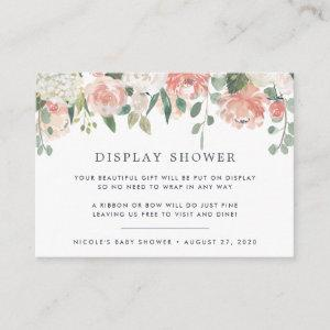 Midsummer Floral Display Shower Card